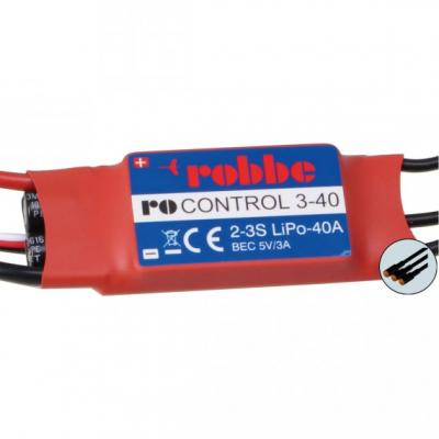 ROBBE RO-CONTROL 3-40 2-3S -40(55)A BRUSHLESS REGLER 5V/3A BEC