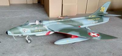 Top-RC Hawker Hunter Swiss ARF Combo