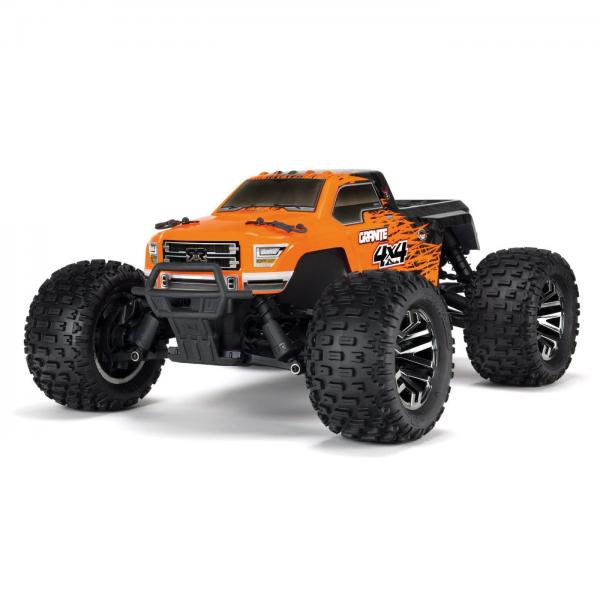 1/10 GRANITE 3S BLX 4WD Brushless Monster Truck mit Spektrum RTR, Orange/Black (ARA102720T1)