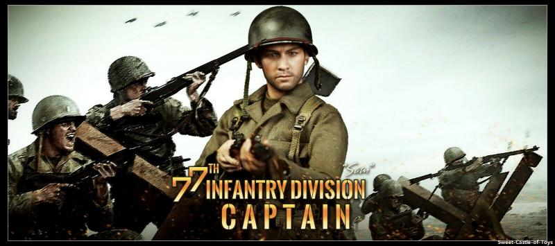 1/6 Action Figure WWII US Army 77th Infantry Division Captain